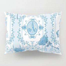 Marie-Antoinette Monogram (Aqua) Pillow Sham