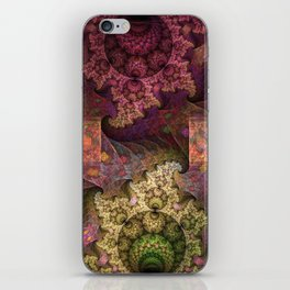 Unending magical spirals and spheres iPhone Skin