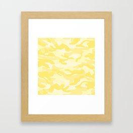 light Yellow Military Camouflage Pattern Framed Art Print