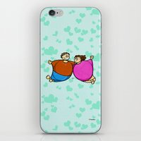 fat iPhone & iPod Skins featuring Fat Lovers by Giuseppe Lentini