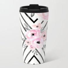 Blush Roses Mod Metal Travel Mug