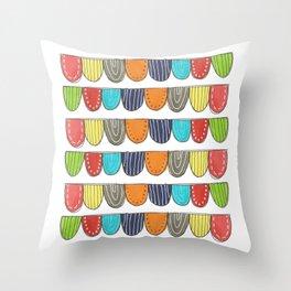 doodle stripes Throw Pillow
