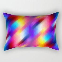 Abstract Colorful Funky Squares Pattern Rectangular Pillow