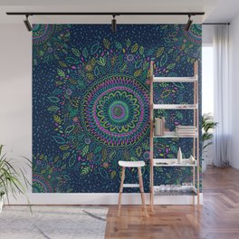 Midnight Garden Mandala Wall Mural