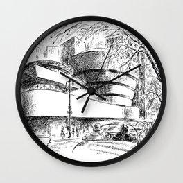 Guggenheim Museum Caricature - Frank Lloyd Wright Wall Clock