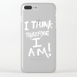 Cogito ergo sum = I think therefore I am Clear iPhone Case