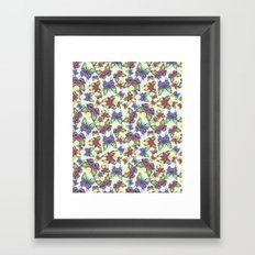 Colourful Butterfly's in a Spring Garden Framed Art Print