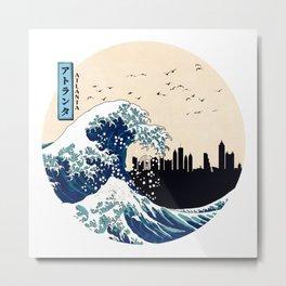 Atlanta Kanagawa Wave Metal Print