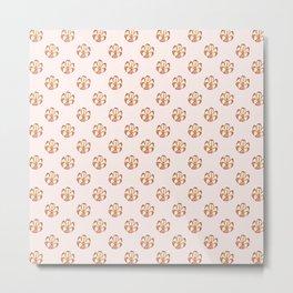 Flower Shaped Nut Pattern Metal Print