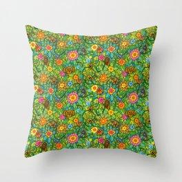 Pattern pony & friends Throw Pillow