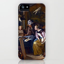 Jan Steen The Drawing Lesson iPhone Case