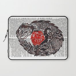 Here Be Dragons  (dragon and d20 dice on dictionary page) Laptop Sleeve