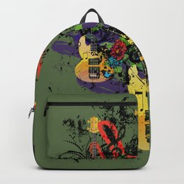 Grunge Guitar Illustration Backpack