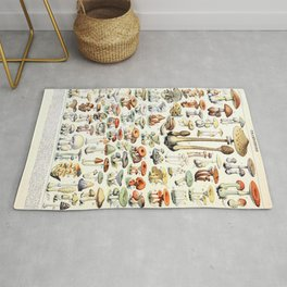 Adolphe Millot - Champignons B - French vintage poster Rug