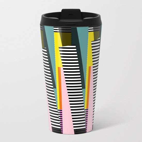 Stripped Metal Travel Mug