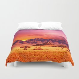 Surface of Earth Duvet Cover