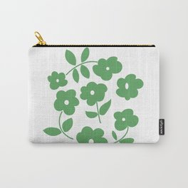 Green Poppies Carry-All Pouch