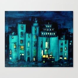 blue castle Canvas Print