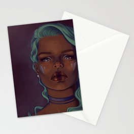 Steely eyes Stationery Cards