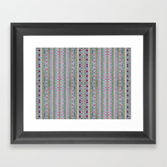 Hearts Pattern Framed Art Print
