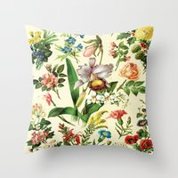 botanical Throw Pillows featuring Botanical by bbay