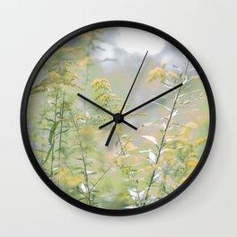 Pastel Fields Wall Clock