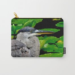 Blue Heron at the pond Carry-All Pouch