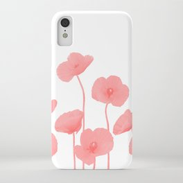 Poppies Flowers red light colored iPhone Case
