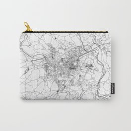 Bath White Map Carry-All Pouch