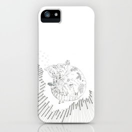 cat and piano iPhone Case