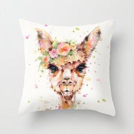 Little Llama Throw Pillow