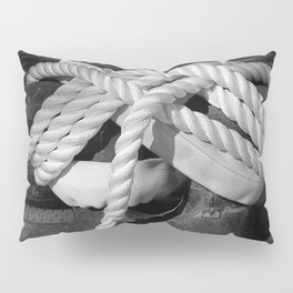 Mooring Rope tied to the dock Pillow Sham
