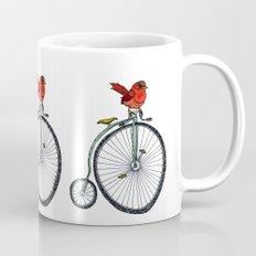 bird on a bicycle. Mug