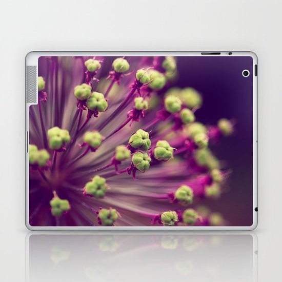 Purple and Lime Green Laptop & iPad Skin