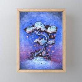 Ninja and the tree of lights Framed Mini Art Print