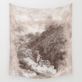 On the way to Rome Wall Tapestry