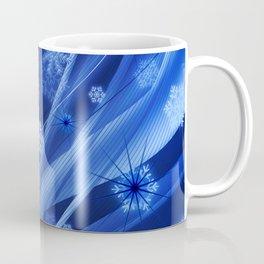 Blue Snowflakes Winter Coffee Mug