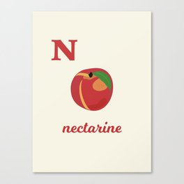 N is for nectarine Canvas Print