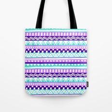 Purple Turquoise Inca Pattern Tote Bag