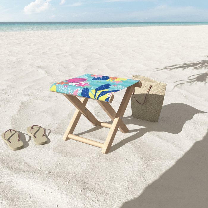 Tropical Vibes Folding Stool