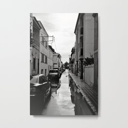 Flooded Street Metal Print