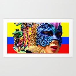 Carnival, Barranquilla,Colombia Art Print