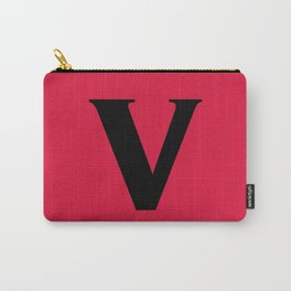 v (BLACK & CRIMSON LETTERS) Carry-All Pouch