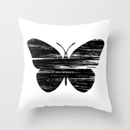 Buterfly Silouetthe Throw Pillow