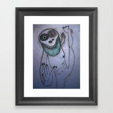 Dancing frog Framed Art Print