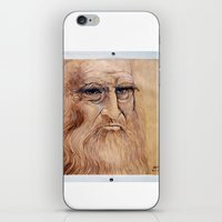 da vinci iPhone & iPod Skins featuring Leonardo Da Vinci by Michael Cu Fua