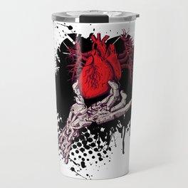 Ripped Out Heart Travel Mug