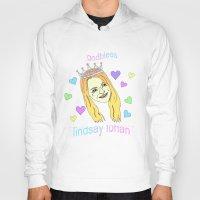 lindsay lohan Hoodies featuring Lindsay Lohan Emotions by MeganBell