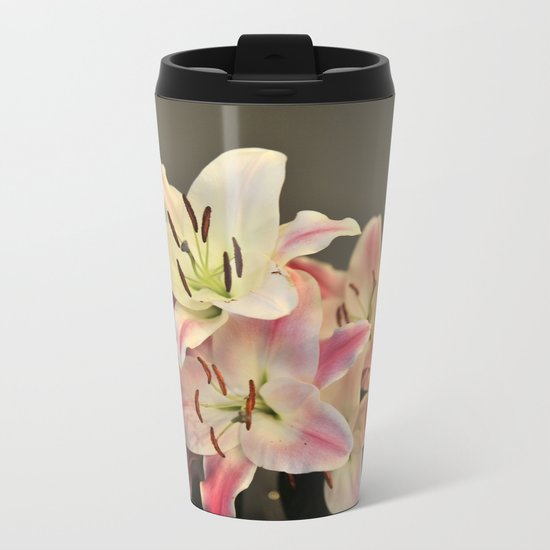 A Dream of Lilies #1 #decor #art #society6 Metal Travel Mug