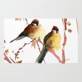 Sparrow couple Rug